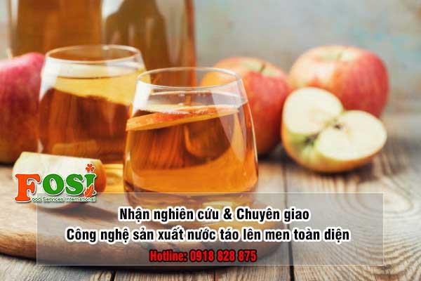 Nghiên cứu và phát triển nước táo lên men