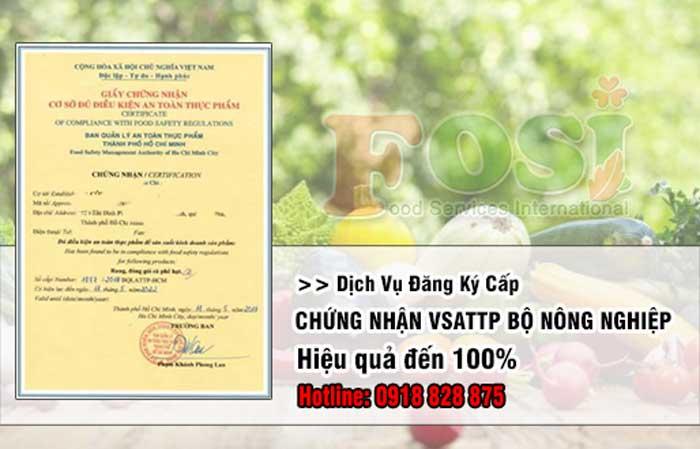 giấy phép vệ sinh an toàn thực phẩm của Bộ Nông Nghiệp