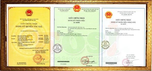 Mẫu giấy chứng nhận Đăng ký Sở hữu trí tuệ