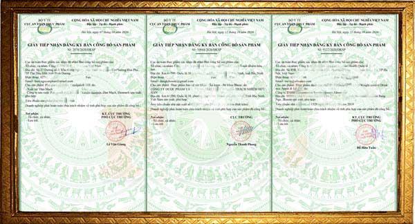 đăng ký bản công bố tiêu chuẩn sản phẩm