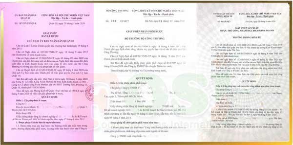 mẫu giấy phép kinh doanh rượu