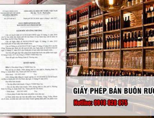 Đăng ký giấy phép bán buôn rượu