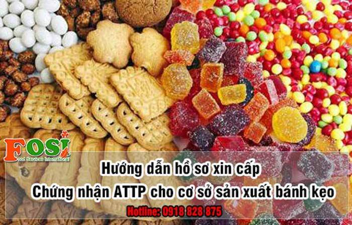 Đăng ký giấy chứng nhận an toàn thực phẩm cho cơ sở sản xuất bánh kẹo
