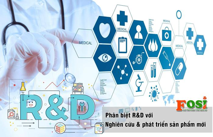 Phân biệt R&D và nghiên cứu và phát triển sản phẩm mới