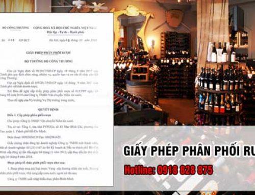 Đăng ký giấy phép phân phối rượu