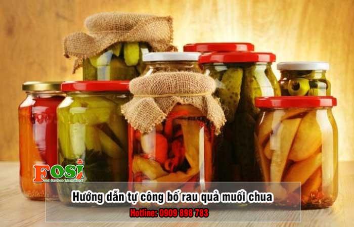 tự công bố rau quả muối chua