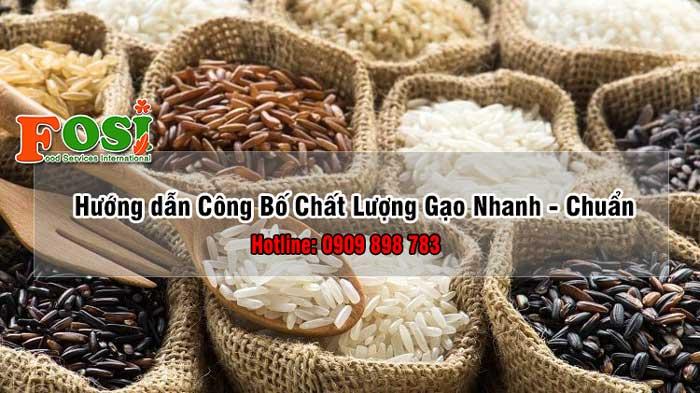 công bố chất lượng gạo