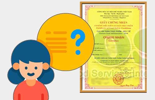 Xin giấy chứng nhận vệ sinh an toàn thực phẩm ở đâu